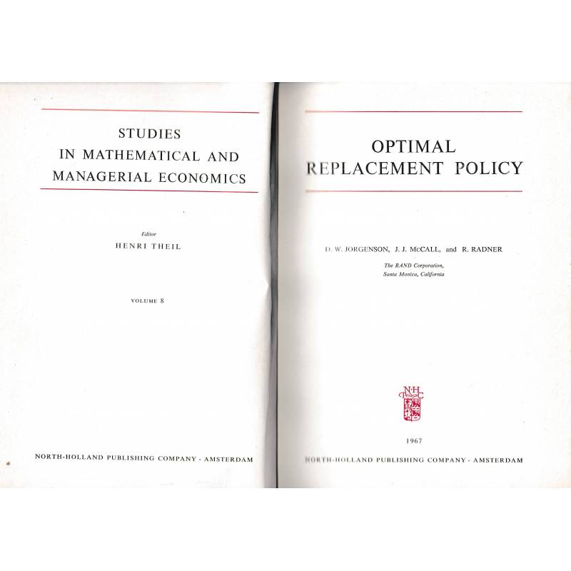 Optimal replacement policy